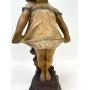 Antiga Escultura Europeia Art Noveau 60cm Gesso