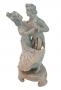 Antiga Escultura Porcelana Bibelo Biscuit Casal Dançando