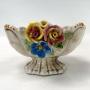 Antiga Fruteira Em Porcelana Com Flores