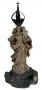 Antiga Imagem Santa Nossa Senhora Madeira Coroa Prata De Lei