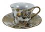 Antiga Xicara De Café Porcelana Branco E Ouro