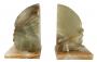 Antigo Aparador De Livro Em Marmore Figura Indigena