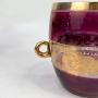 Antigo Balde De Gelo Jarra Com 6 Copos Detalhes Em Ouro