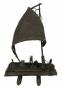 Antigo Barco Jangada Em Cobre