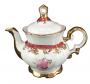 Antigo Bule De Cha Porcelana Real Rosa E Ouro