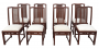 Antigo Conjunto 8 Cadeiras Madeira Nobre E Palhinha Indiana