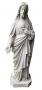 Antigo Cristo Sagrado Coraçao De Jesus Po De Marmore