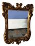 Antigo Espelho Em Madeira Entalhada Folheada A Ouro