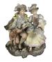 Antigo Grupo Escultorico Porcelana Alema Casal De Nobre