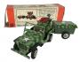 Antigo Jeep Militar Bandai Miniatura Lata Na Caixa