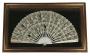 Antigo Leque Grande De Renda Emoldurado 80x48cm