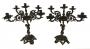 Antigo Par De Candelabro Anjo 5 Velas Bronze