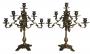 Antigo Par De Candelabro Metal 9 Velas
