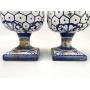 Antigo Par De Pinha Portuguesa Em Porcelana 34cm De Altura