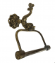 Antigo Porta Papel Higienico Em Bronze