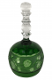 Antigo Sino De Cristal Verde Belissimo