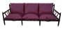 Antigo Sofa Jacaranda Maciço Design Anos 60