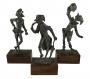 Antigo Trio De Escultura Italiana Em Pewter Feito A Mao
