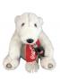 Antigo Urso De Pelucia Coca Cola Cachecol E Garrafa Na Mao