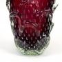 Antigo Vaso Cristal Murano Bolha 30cm De Altura