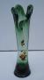 Antigo Vaso Floreira Em Vidro Verde