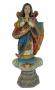Arte Sacra Santa Em Madeira 48cm Franciné Macario Diniz