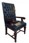 Cadeira Antiga Para Escrivaninha Inglesa Encosto Capitone