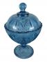 Compoteira Antiga Azul Lagrima