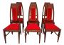 Conjunto 6 Cadeiras Antiga Marchetada Art Noveau