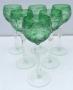 Conjunto De 6 Taças Para Vinho Em Cristal Europeu Verde
