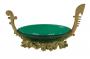 Enfeite Pequena Peça Decorativa Em Vidro E Bronze