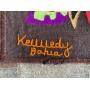Enorme Tapeçaria Antiga Kennedy Bahia 130x205cm