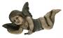 Escultura Anjo Antigo Madeira 36cm