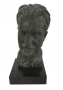 Escultura Busto Bronze Tchaikovsky Assinado Base Jacarandá