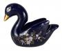 Escultura Porcelana Antiga Cisne Pintado A Mao