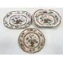 Espetacular Trio Prato E Travessas Porcelana Opaque Stone