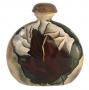 Grande Potiche Garrafa Bojuda Ceramica Com Flores