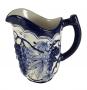 Jarra Antiga Ceramica Luiz Salvador Azul E Branco