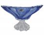 Lindo Centro De Mesa Fruteira Cristal Azul