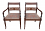 Antigo Par Cadeira Com Braço Ingles Madeira Nobre