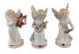 Lindo Trio De Anjos Musicais Em Porcelana Biscuit