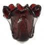 Lindo Vaso Cristal Murano Sao Marcos Vermelho Rubi