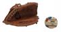 Luva E Bola Beisebol Couro Antigo