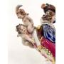 Magnifica Escultura Antiga Porcelana Alema Scheibe Alsbach