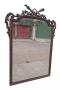 Magnifico Espelho Francês Ricamente Entalhado E Bisotado