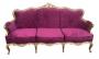 Magnifico Sofa Luis Xv Dourado Tecido Belissimo