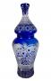 Magnifico Vaso Potiche Cristal Antigo Bohemia 55cm