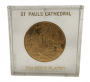 Medalha St Pauls Cathedral Londres Banhada A Ouro