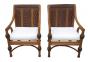 Par De Cadeiras Decorativas Em Rattan Vime Para Varanda