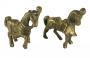 Par De Escultura Antiga Cavalo Bronze
